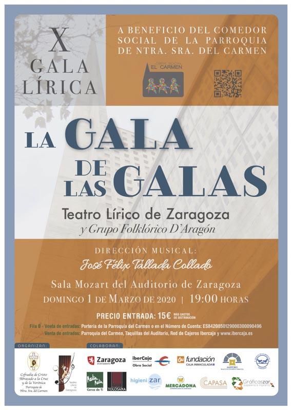 X Gala Lírica a beneficio del Comedor Social de la Parroquia de Ntra. Sra. del Carmen. @ Auditorio de Zaragoza | Zaragoza | Aragón | España